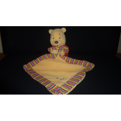 DOUDOU OURS WINNIE L'OURSON PELUCHE AVEC MOUCHOIR DISNEY