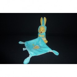 DOUDOU WINNIE L'OURSON DEGUISE EN LAPIN AVEC MOUCHOIR DISNEY