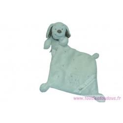 Doudou chien peluche avec mouchoir Cora Influx