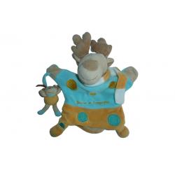 Doudou renne marionnette et son petit DC1489 SOS doudou Doudou et Compagnie
