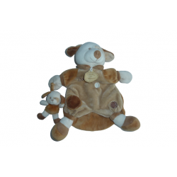 Doudou chien Daffy marionnette et son petit DC1562 SOS doudou Doudou et Compagnie