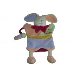Doudou lapin Le Petit Lapin marionnette et sa chenille DC1608 SOS doudou Doudou et Compagnie