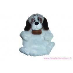 Doudou chien St Bernard marionnette SOS doudou Créations Dani