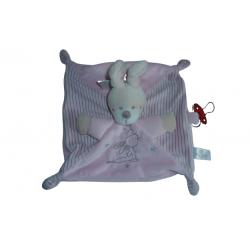 Doudou lapin rose Nicotoy SOS Doudou