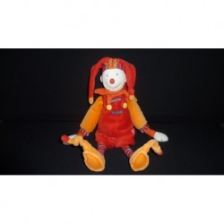 DOUDOU POLICHINELLE DRAGOBERT PELUCHE  GRAND MODELE MOULIN ROTY