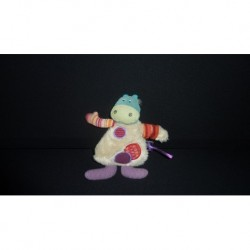 DOUDOU VACHE SEMI PLAT COLLECTION LES JOLIS PAS BEAUX MOULIN ROTY